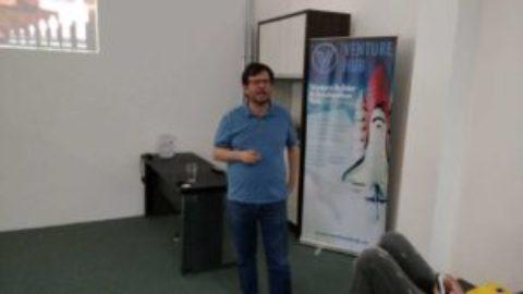 Discutindo AgTech em Meetup em Campinas